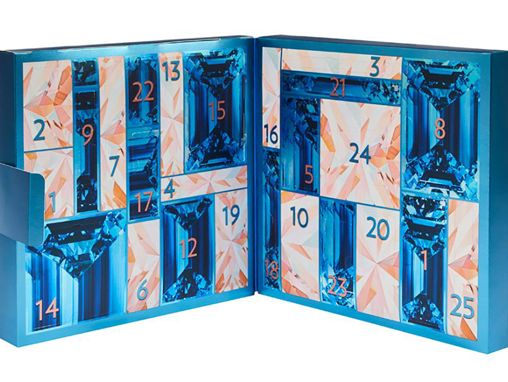 Bright blue calendar for the bright personality